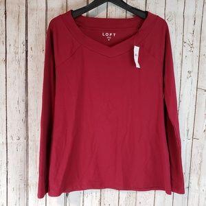 New Loft basic longsleeve shirt sz Medium